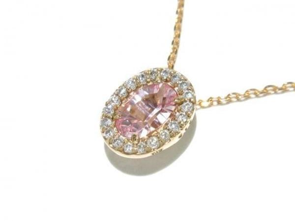 ヴェレッタオッターヴァ ネックレス美品  K18PG×カラーストーン×ダイヤモンド