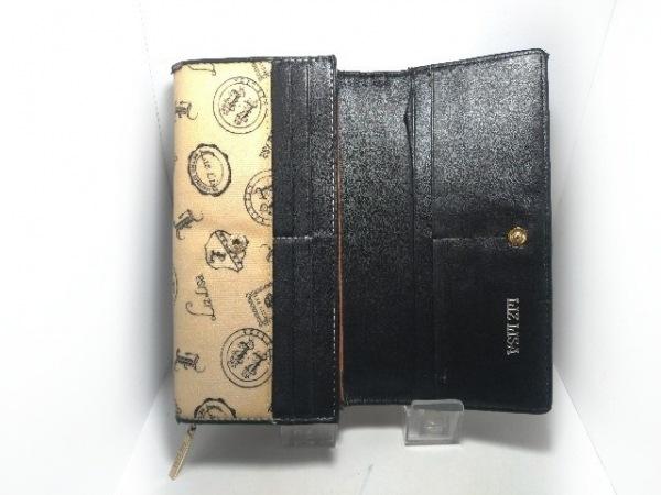 954fbfc4520c ... LIZLISA(リズリサ) 長財布 アイボリー×黒 リボン PVC(塩化ビニール)× ...