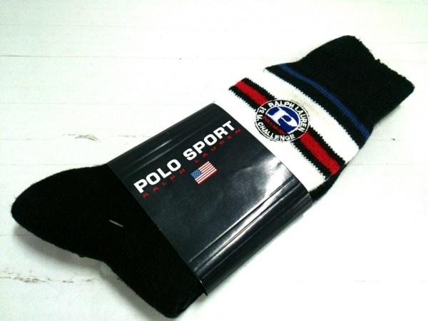 POLO SPORT(ポロスポーツ) 小物 25~27cm美品  ダークネイビー×白×マルチ 靴下