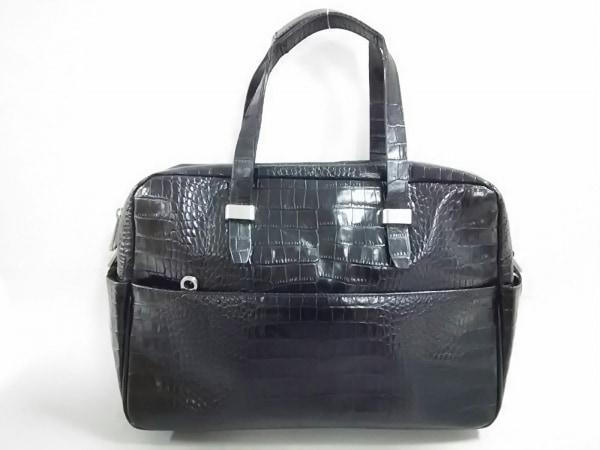 RO(ロー) ビジネスバッグ 黒 型押し加工 レザー