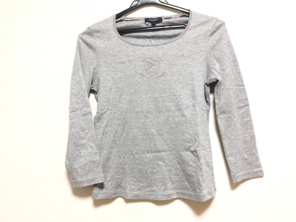 Burberry LONDON(バーバリーロンドン) 七分袖Tシャツ サイズ1 S レディース グレー