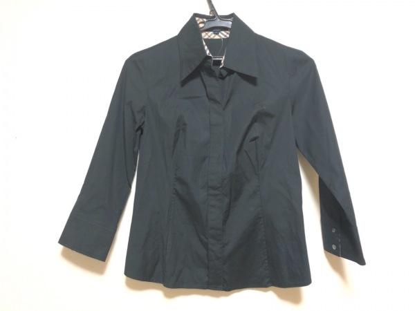 バーバリーロンドン 七分袖シャツブラウス サイズ5 XS レディース 黒