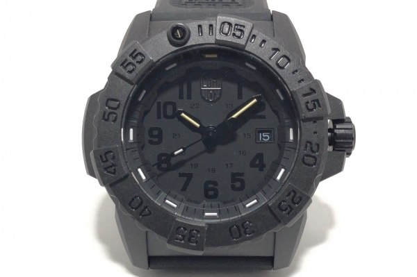 LUMINOX(ルミノックス) 腕時計 3500-1GBq メンズ ラバーベルト/回転ベゼル 黒
