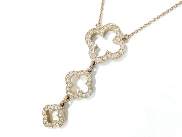 ABISTE(アビステ) ネックレス美品  金属素材×ラインストーン ゴールド×クリア