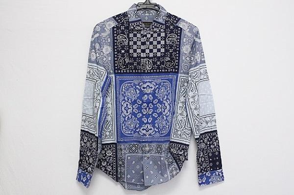 LOUIS VUITTON(ルイヴィトン) 長袖シャツ サイズXS メンズ ネイビー×白×マルチ