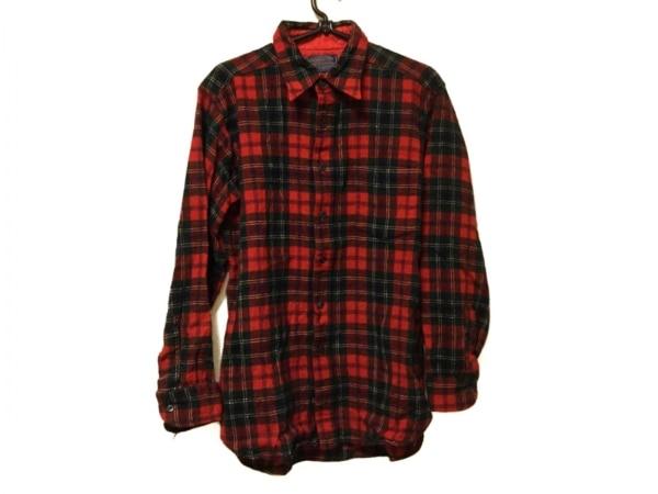 ペンドルトン 長袖シャツ サイズM メンズ グリーン×レッド×マルチ チェック柄