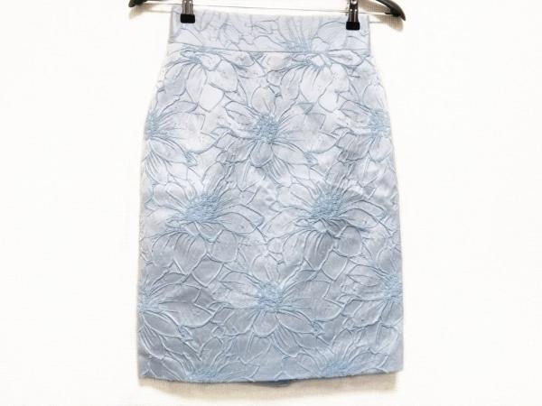 BLUGiRL(ブルーガール) スカート サイズ38 M レディース美品  ライトブルー 花柄
