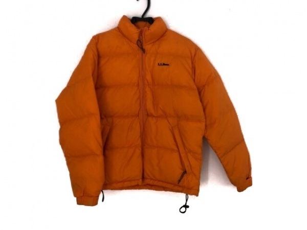 L.L.Bean(エルエルビーン) ダウンジャケット サイズSMALL S メンズ オレンジ 冬物