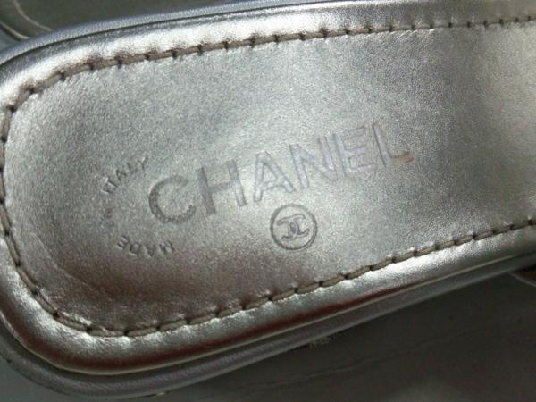 CHANEL(シャネル) ミュール 37C レディース G32351 シルバー スター