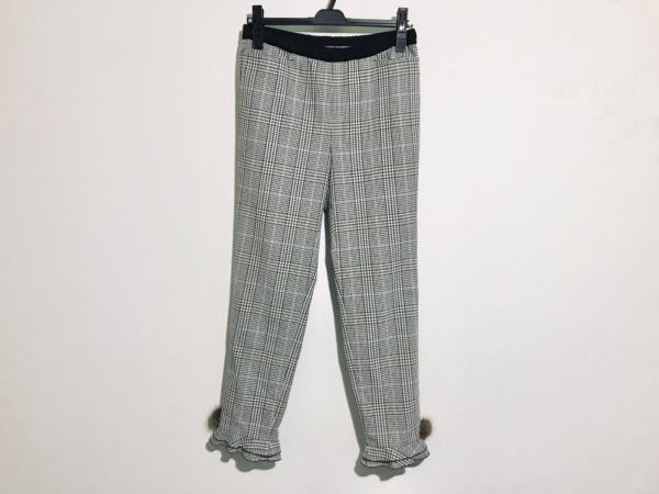 トゥービーシック パンツ サイズ42 L レディース美品  ベージュ×黒×マルチ
