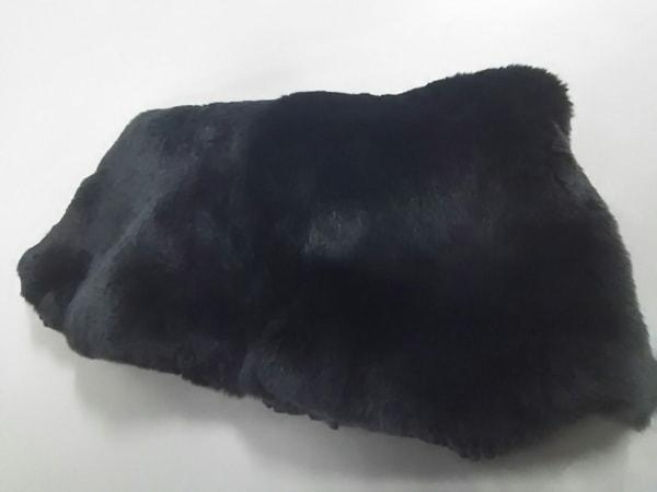UNTITLED(アンタイトル) マフラー新品同様  黒 ファー/ニット/ ラビット×化学繊維