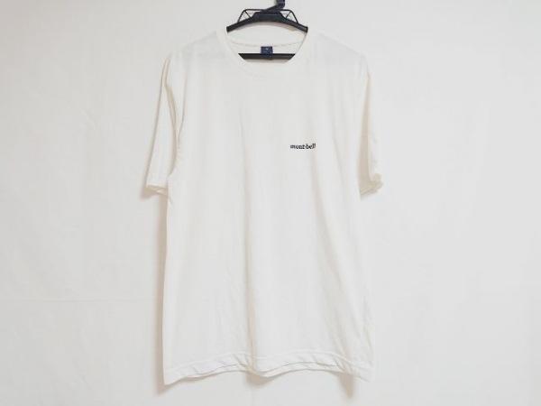 mont-bell(モンベル) 半袖Tシャツ サイズM メンズ アイボリー×ダークグレー