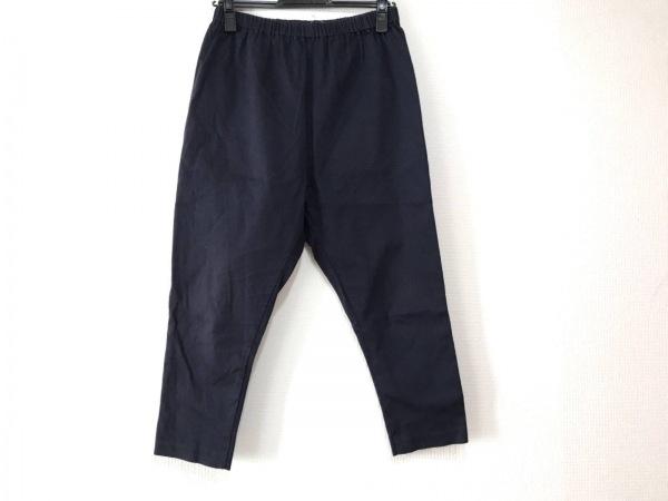 ミズイロインド パンツ サイズ1 S レディース美品  ダークネイビー ウエストゴム