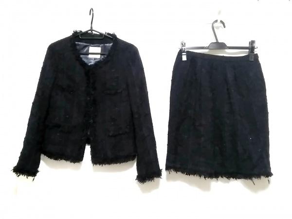 Spick&Span(スピック&スパン) スカートスーツ サイズ38 M レディース 黒×ネイビー