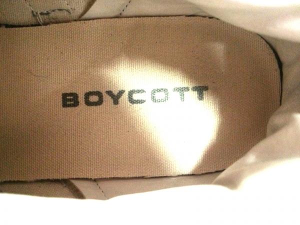 BOYCOTT(ボイコット) スニーカー メンズ グレー×アイボリー レザー