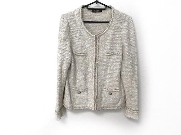ポールスチュアート ジャケット サイズ8 M レディース美品  白×マルチ ツイード/ラメ