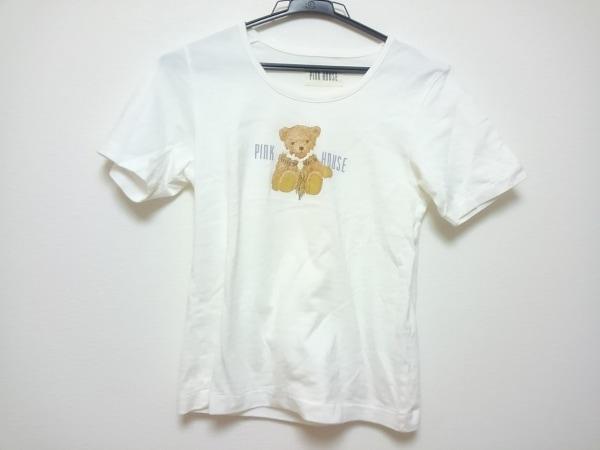 PINK HOUSE(ピンクハウス) 半袖Tシャツ レディース 白×マルチ