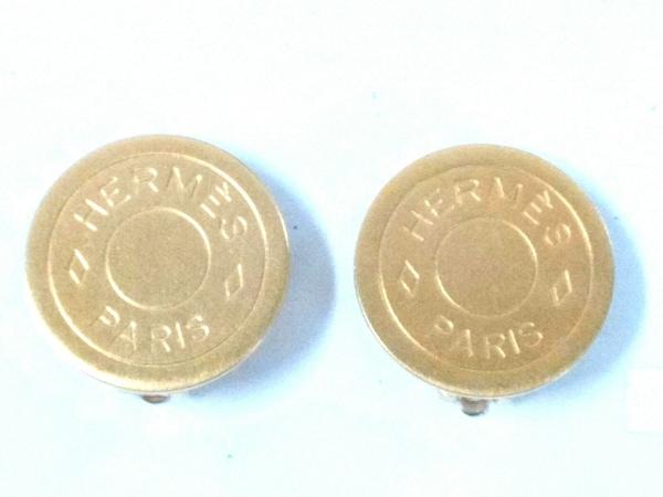 HERMES(エルメス) イヤリング美品  セリエ 金属素材 ゴールド