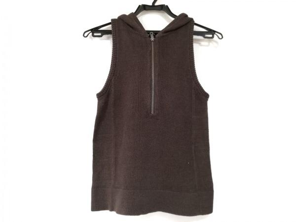 theory(セオリー) ノースリーブセーター サイズ2 S レディース美品  ダークブラウン