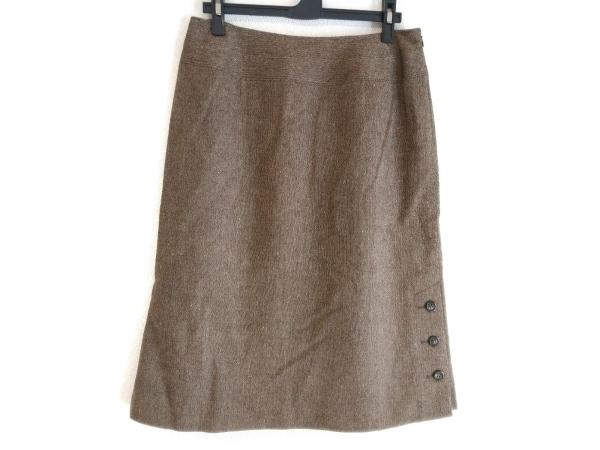 レリアン スカート サイズ11 M レディース美品  ダークブラウン×オレンジ×マルチ