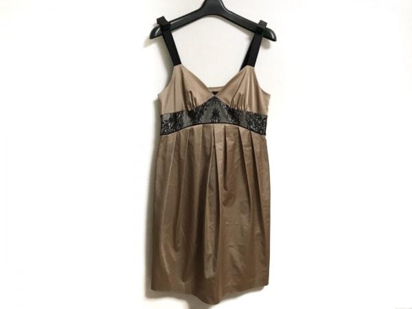 SOV.(ソブ ダブルスタンダード) ドレス レディース美品  ライトブラウン×黒 レース