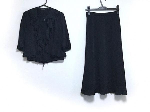 INGEBORG(インゲボルグ) スカートセットアップ サイズM レディース美品  黒 フリル