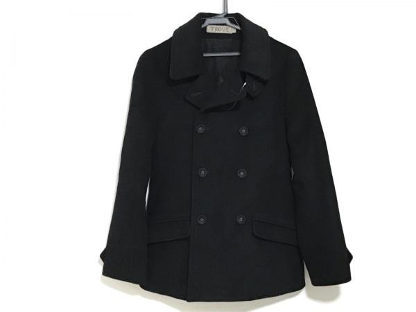 TROVE(トローヴ) Pコート サイズ2 M メンズ 黒 冬物/カシミヤ混