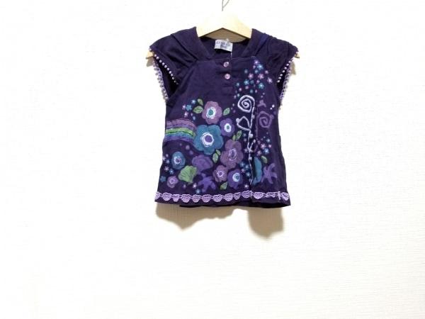 アナスイミニ カットソー サイズ90 レディース美品  グリーン×マルチ 子供服/花柄