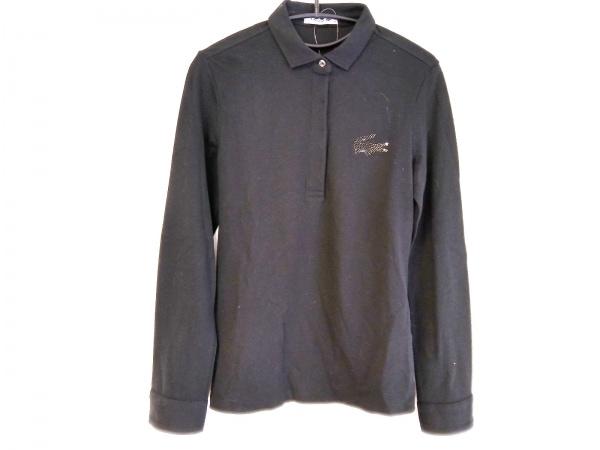 Lacoste(ラコステ) 長袖ポロシャツ サイズ38 M レディース 黒