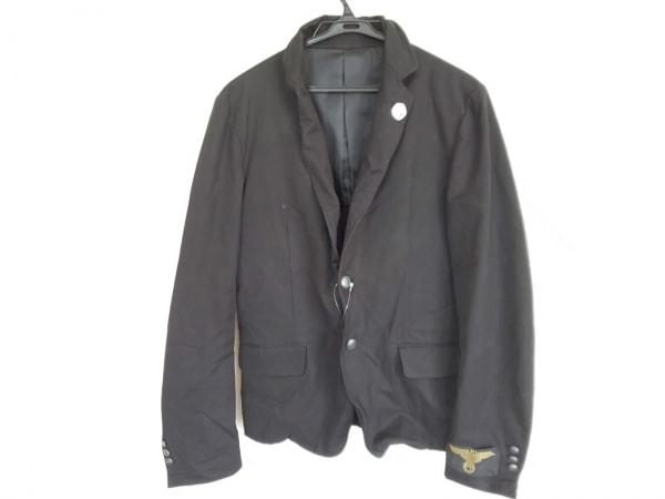 アドバンテージサイクル ジャケット サイズM メンズ美品  黒×ゴールド 刺繍