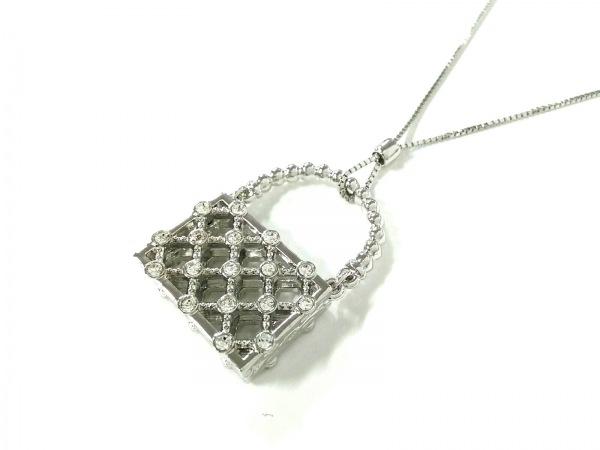 スワロフスキー ネックレス美品  スワロフスキークリスタル×金属素材 バッグ