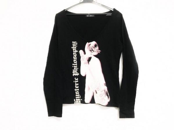 ヒステリックグラマー 長袖Tシャツ サイズF レディース美品  黒×アイボリー×ピンク