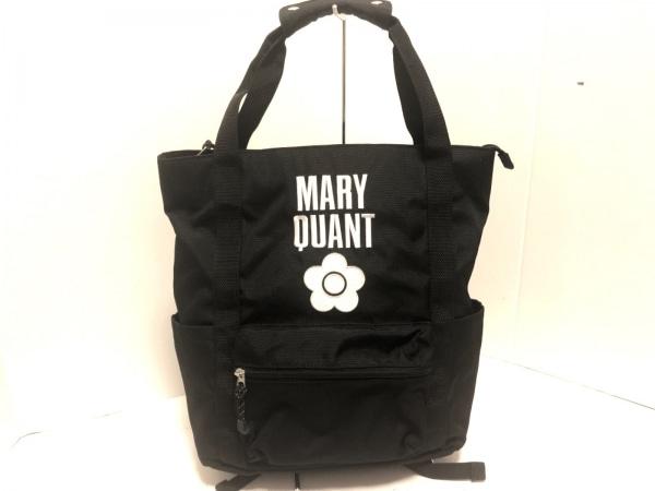 MARY QUANT(マリークワント) リュックサック美品  黒×白 2way ナイロン