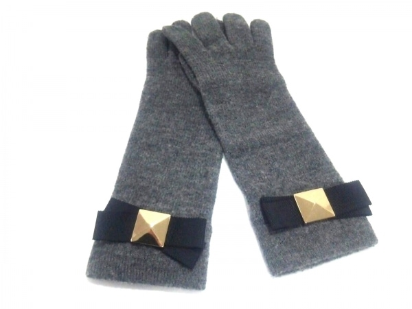Kate spade(ケイトスペード) 手袋 レディース グレー ウール×ポリエステル