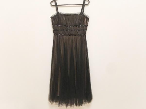 ビーシービージーマックスアズリア ドレス サイズS レディース美品  黒×ベージュ