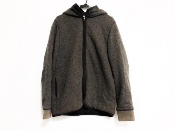 ボスオレンジ コート サイズL メンズ美品  ダークグレー×ブラウン ジップアップ/冬物
