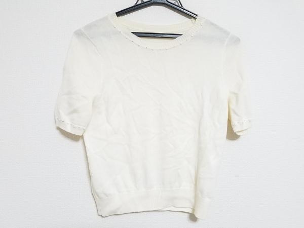 ANAYI(アナイ) 半袖セーター サイズ38 M レディース アイボリー 1