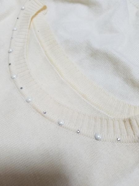 ANAYI(アナイ) 半袖セーター サイズ38 M レディース アイボリー 6