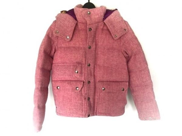ノースフェイス ダウンジャケット サイズXS レディース ピンク×パープル