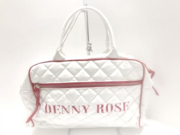 DENNY ROSE(デニーローズ) ハンドバッグ 白×レッド キルティング 合皮