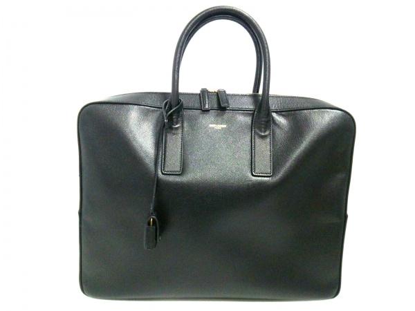 SAINT LAURENT PARIS(サンローランパリ) ビジネスバッグ美品  377865 黒 レザー
