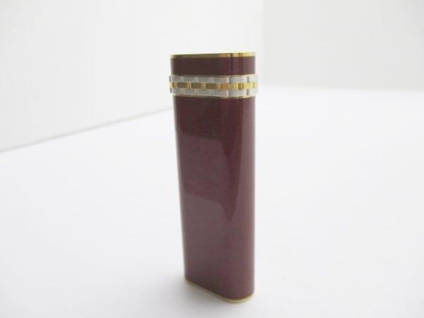 Cartier(カルティエ) ライター ボルドー×ゴールド×シルバー 金属素材