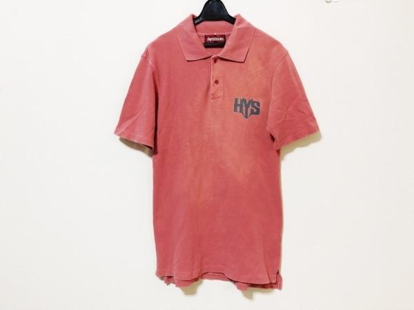 HYSTERIC(ヒステリック) 半袖ポロシャツ サイズF メンズ レッド×ダークグレー