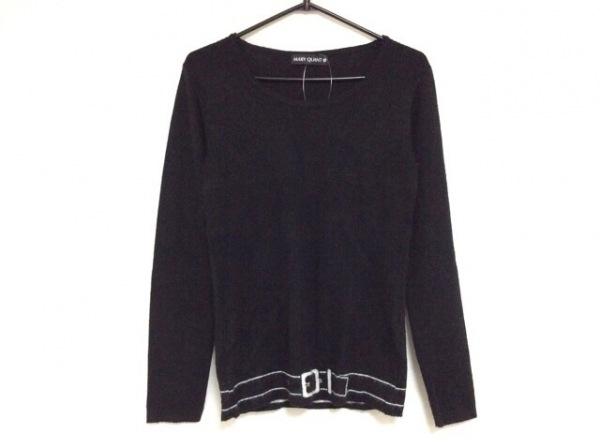 MARY QUANT(マリークワント) 長袖セーター サイズM レディース 黒×白