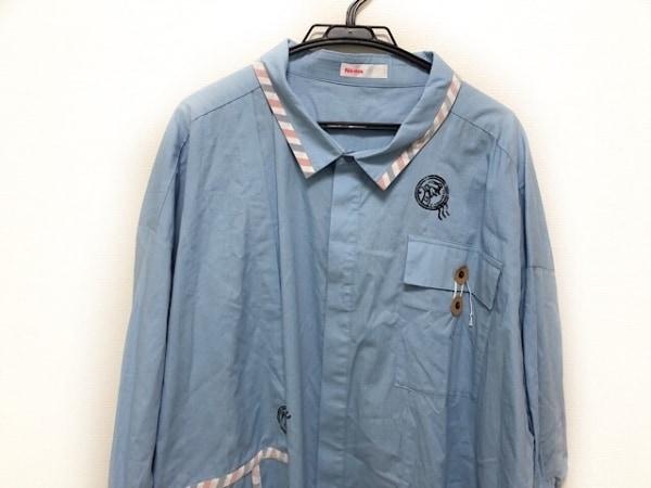 Ne-net(ネネット) コート サイズ2 M レディース ライトブルー×白×マルチ 春・秋物