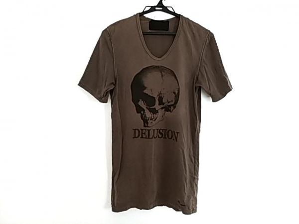 Roen(ロエン) 半袖Tシャツ サイズ44 L メンズ美品  ダークブラウン×黒 スカル