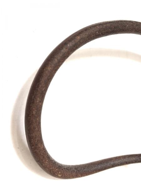 HERMES(エルメス) チョーカー - レザー×金属素材 ダークブラウン×シルバー