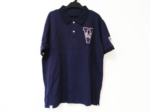 VAN(バン) 半袖ポロシャツ サイズL メンズ ネイビー×レッド×白 CLUB