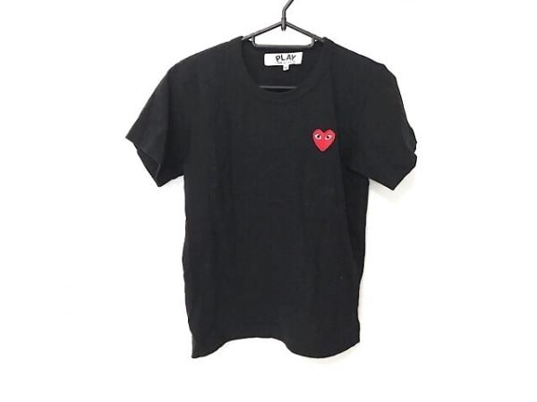 プレイコムデギャルソン 半袖Tシャツ サイズM レディース 黒 ハート