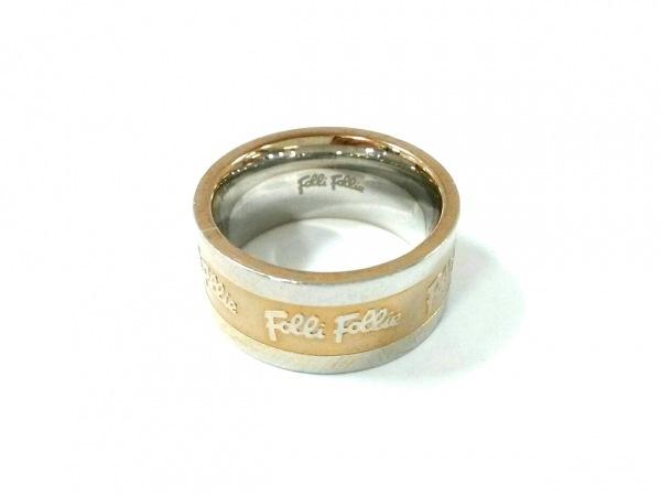 FolliFollie(フォリフォリ) リング 52美品  金属素材 シルバー×ゴールド